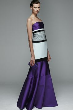 Bette-Franke, J.Mendel Resort-2015 purple dress