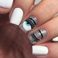 Decoraciones de Uñas que han sido tendencia y han causado furor Fabulous Nails, Perfect Nails, Solid Color Nails, Nail Colors, Purple And Pink Nails, Evil Eye Nails, Gel Nails, Manicure, Cute Nails For Fall
