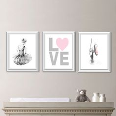 Baby Nursery Art Ballerina Decor Bedroom Ballet Ns 543 Oooh