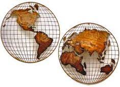 world map on wall metal - Google zoeken