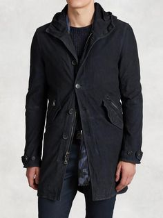 Men's Jacket John Varvatos Goat Suede Parka - Find out the best local deals using Xwalker local shopping search.