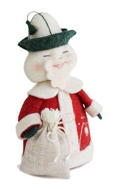 Santa Claus/ Ayaz Ata. Hand embroidery, hand gathering. 14*11*7 cm.