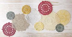 Discover fun new ways to decorate with doilies! It's easy with creative choices in yarn or thread weights and colors. Our projects show how one pattern can take on many looks. Share Share on Facebook Tweet Tweet on Twitter Pin it Pin on Pinterest  Click here to order your copy of this book: http://www.maggiescrochet.com/products/doilies-updated