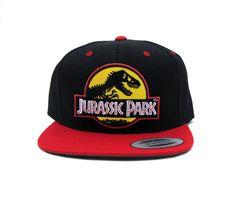 Jurassic Park cap (logo with yellow background) - red brim. Boné Jurassic Park (logo com fundo amarelo) - aba vermelha | http://www.ebay.com/itm/Jurassic-Park-Movie-Logo-Yellow-Embroidered-Patch-Flat-Bill-Sanpback-Cap-Hat-/171836709594?pt=LH_DefaultDomain_0&hash=item2802441ada