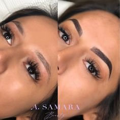 Gorgeous before and after Microblading & Shading. Never worry about filling in your eyebrows again! Call to book your Microblading appointment today! Eyebrow Makeup Tips, Permanent Makeup Eyebrows, Perfect Eyebrow Shape, Perfect Eyebrows, Mircoblading Eyebrows, Eye Brows, Eyebrow Tattoo, Tattoo Eyebrows, Bridal Hair And Makeup