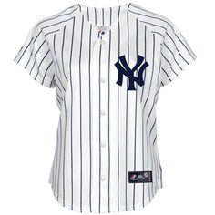 980d74950 Majestic New York Yankees Women s Plus Size Replica Home White Jersey  Jersey Shirt
