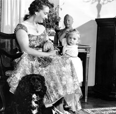 Mrs. Clyde Harris, nee Princess Cecilie of Prussia, with her only child, Kira Harris.