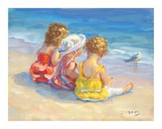 Just discovered Lucelle Raad! Wonderful paintings of children and the beach.