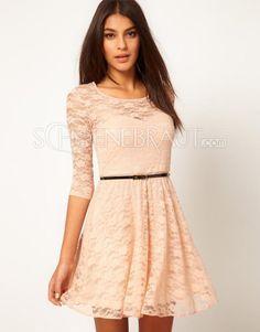 Konfirmationskleider Kleider Prinzessin Sexy Sommer Mode Abendkleider kurze Hülsenspitzekleid kurze Mini Partykleid mit kostenlosem Gürtel [#UD9107] - schoenebraut.com