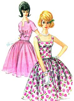 1960s Dress Pattern McCalls 6229 Full Skirt Square by paneenjerez, $40.00