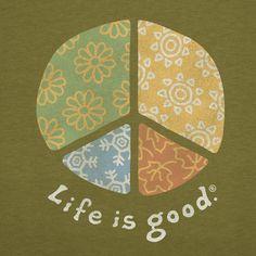 Women's Four Seasons Peace Long Sleeve Crusher Tee | Peace Sign Tee Shirts | Life is good