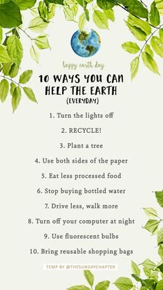 Earth day Instagram template ways to help
