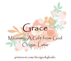 Grace first name meaning art print name meaning art 8x10 art print baby girl name grace meaning a gift from god virtue name negle Gallery