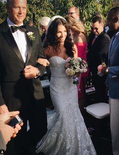 Jessie James Decker's sister Sydney Rae James married Anthony Bass in Los Cabos, Mexico, on Friday, January the wedding details here! Jessie James Decker Wedding, Wedding Bridesmaid Dresses, Wedding Gowns, Sydney Rae James, Atitlan Guatemala, Wedding Hair And Makeup, Hair Makeup, Bride Look, Wedding Bells
