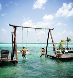 Tropical Summer Swingset - I will add this to my future back yard