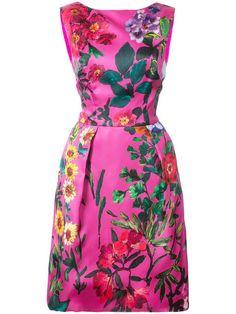 Monique Lhuillier floral structured dress
