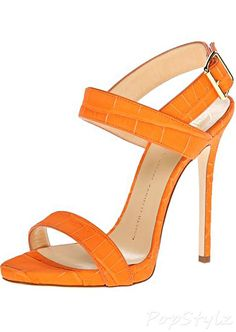 Giuseppe Zanotti Italian Leather Dress Sandal in Sombry Orange