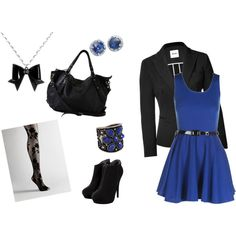 hey, I have the blue dress, black blazer, and boots. maybe this will be next weekend's outfit?
