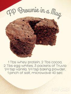 Worth a pixels Trim Healthy Mama Diet, Trim Healthy Recipes, Sugar Free Desserts, Low Carb Desserts, Thm Fuel Pull, Thm Diet, Muffin In A Mug, Brownie In A Mug, Mug Recipes