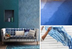 Shibori Dyes on HGTV's Design Happens: Color of the Month