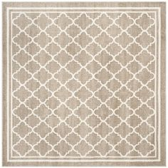 Shop for Safavieh Indoor/ Outdoor Amherst Wheat/ Beige Rug (9' x 9' Square). Get free shipping at Overstock.com - Your Online Home Decor Outlet Store! Get 5% in rewards with Club O!