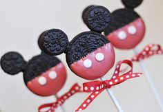 Mickey Mouse #Cakepops      How to do. Found on villaperlesukker.no