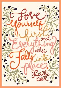 In order to be ready for a relationship, you have to be comfortable with yourself first. Then you can love others