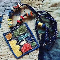 A huge thank you to everyone who left comments on my last post, I'm still trying to read through them all and respond to them thoughtfully. Fiber Art Jewelry, Thread Jewellery, Textile Jewelry, Fabric Jewelry, Felt Fabric, Fabric Art, Fabric Crafts, Sewing Crafts, Sewing Projects