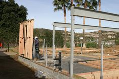 WEEK 8 (01-25-15) FRAMING: Wednesday, the 1st wall goes up.