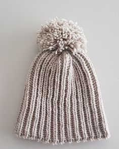 JUBILOCIOS: GORROS LANA CON POMPÓN Projects To Try, Winter Hats, Crochet Hats, Knitting, Diy, Bandeaus, Ideas, Baby Beanie Hats, Tricot