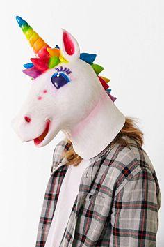I really kinda want this...like so bad! ~ La Lisa Frank X UO Markie Unicorn Mask #lisafrank