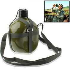 [$4.05] [€3.82] [£2.97] 1.5L Portable Aluminum Outdoor / Military Water Kettle