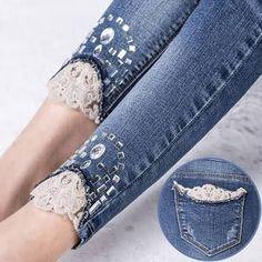 Resultado de imagen para jeans with strass