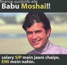 What would have Anand said about SIP and EPI to Babu Moshai - Your Finance Assistant 2019 Gifts For Campers, Camping Gifts, Corporate Blog, Quizzes, Finance, Investing, Road Trip, Management, Sayings