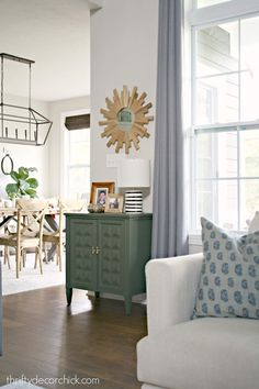 Going out of my color comfort zone from Thrifty Decor Chick Contemporary Kitchen Tables, Modern Kitchen Furniture, Contemporary Furniture, New Paint Colors, Thrifty Decor Chick, Paint Furniture, Furniture Logo, Furniture Companies, Best Carpet