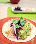 Healthy Fish Taco Recipe Video : <p>Cod, salmon or snapper works great in this healthy fish taco recipe. Panko bread crumbs give the fish crunch without frying. Guacamole and carrot slaw add a healthy boost of flavor and nutrition.</p>