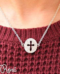 Crystal Cutout Cross Necklace