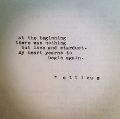 'Stardust' #atticuspoetry #atticus #poetry #poem #love #stardust #loveherwild