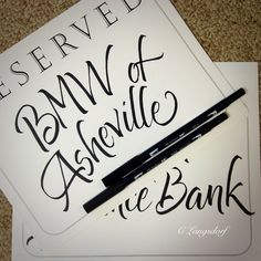 Brush lettering using the Tombow ABT