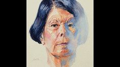 Watercolor Portrait Speed Painting- Amethyst - YouTube