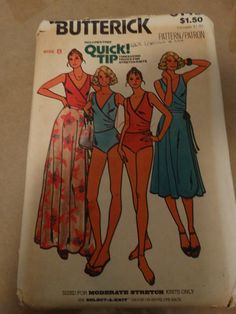 Vintage Quick Butterick Swimsuit Pattern Size 8 by TheIDconnection