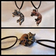 Interlocking Wolf and Fox Love Necklaces His and Hers Cuddle Couple - Trend Diamond Necklace 2019 Bff Necklaces, Couple Necklaces, Wolf Jewelry, Cute Jewelry, Wolf Necklace, Amor Animal, Fox Art, Diamond Solitaire Necklace, Bridal Necklace