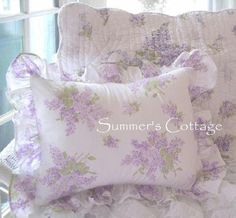 Shabby cottage chic lavender wisteria lilac quilt / pillow sham(s) Lilacs, Shabby Cottage and ...