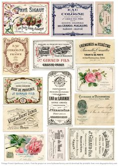 Hoy os traigo un ejemplo práctico de como utilizar lo que os publico.  En este caso son etiquetas vintage   Enlace:   http://thegraphicsfair...