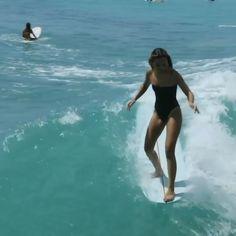 Loving that fancy footwork! With Daniela Liapina Surf Girls, Bikinis, Swimwear, Surfing, One Piece, Fancy, Dreams, Island, Photo And Video