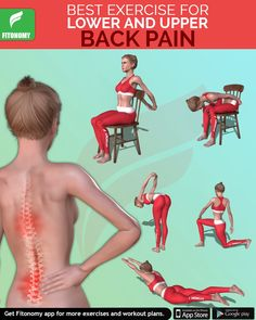 Building core strength is one of the best defenses against lower back pain. Try these core exercises to combat lower and upper back pain and discomfort.Fitonomy - The Best Fitness App and Supplements Fitness Herausforderungen, Fitness Workouts, Health Fitness, Physical Fitness, Good Back Workouts, At Home Workouts, Upper Back Pain Exercises, Core Exercises, Posture Exercises