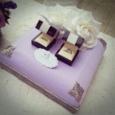 Purple gift tray