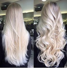 Pinterest @ emilylarbey ✌ long blonde straight wavy hair