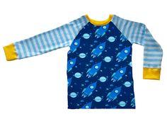 Shirt  Rakete Langarm in Wunschgröße von glückle auf DaWanda.com
