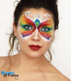 Carnival mask, exotic butterfly face painting